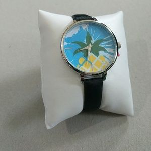 Accessories - Pineapple watch with black wristband